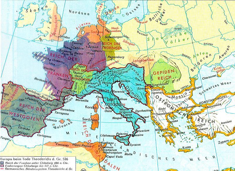 Europa zur zeit der germanenreiche