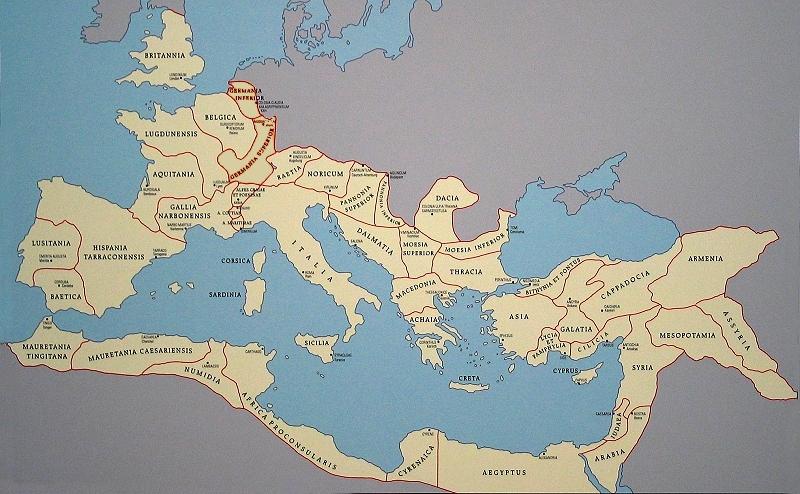 altes rom karte
