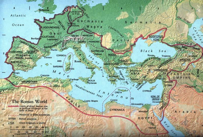 Römisches Reich Karte.Antikefan Roemisches Imperium